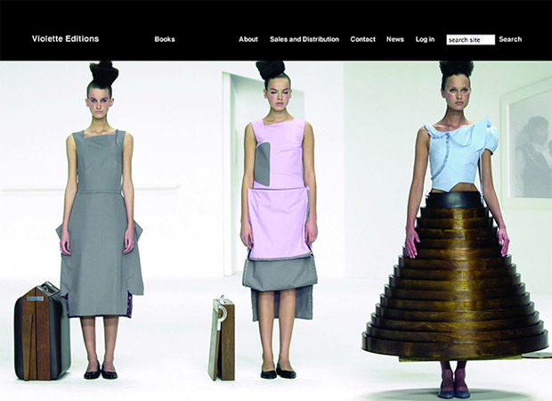 violetteeditions.com website by Andy Ennis
