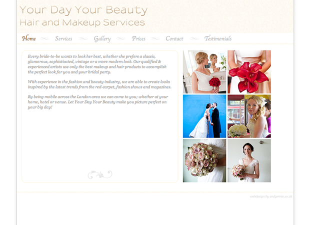 Your Day Your Beauty website by Andy Ennis